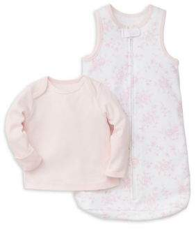 Little Me Baby Girl's Two-Piece Shirt and Sleeper Set
