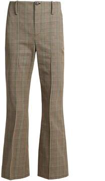 Balenciaga Prince of Wales-checked cotton trousers