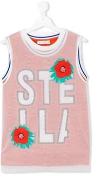 Stella McCartney floral mesh top