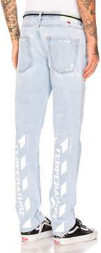 Off-White Temperature Slim 5 Pocket Jeans