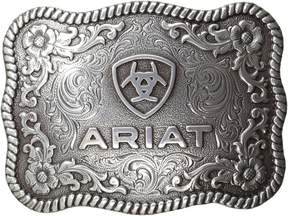 Ariat Rectangle Rope Edge Shield Buckle Men's Belts