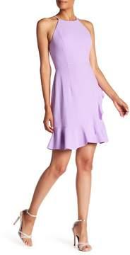 Donna Morgan High Neck Sleeveless Crepe Dress