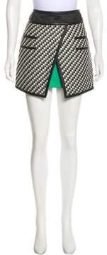 Barbara Bui Leather-Trimmed Mini Skirt