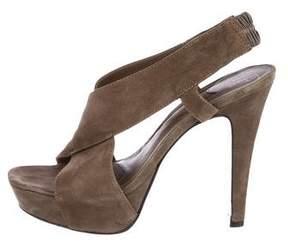 Diane von Furstenberg Suede Slingback Sandals
