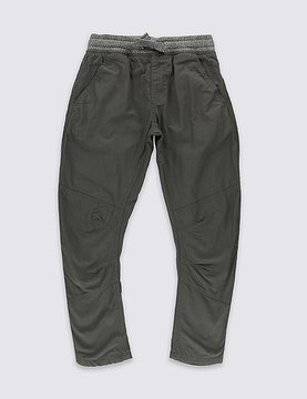 Marks and Spencer Pure Cotton Trousers (5-14 Years)