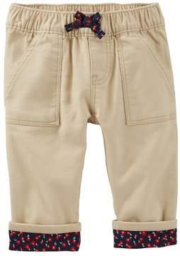Osh Kosh Baby Girl Floral Cuffed Pants