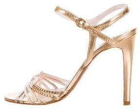 Emilio Pucci Metallic Embellished Sandals