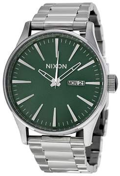 Nixon Sentry Green Dial Stainless Steel Mens Watch A3561696