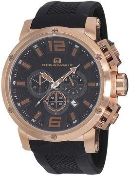 Oceanaut Spider Mens Black Silicone Strap Watch