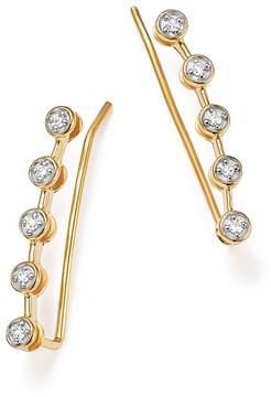 Adina 14K Yellow Gold Five Diamond Ear Climbers