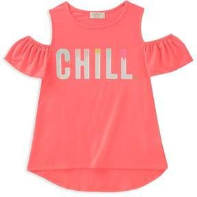 Kate Spade Girls' Cold-Shoulder Chill Tee - Big Kid