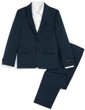 Boy's Michael Kors Mini Neat Wool Suit