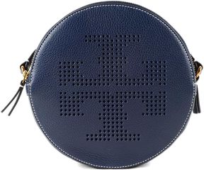 Tory Burch Perforated Logo Shoulder Bag - BLUE - STYLE