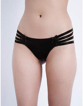 Bordelle Webbed stretch-silk thong