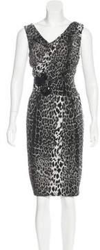 David Meister Printed Embellished Dress