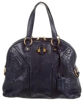 Saint Laurent Python Muse Bag - BLUE - STYLE