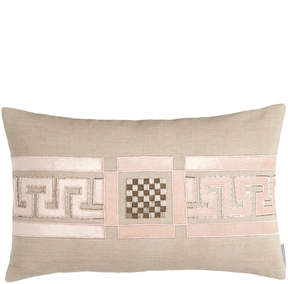 Neiman Marcus Lili Alessandra Mackie 14 x 22 Greek Key Pillow