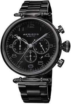 Akribos XXIV Grandiose Black Dial Black IP Stainless Steel Men's Watch