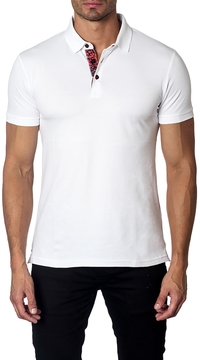 Jared Lang Men's Cotton Solid Ribbed Polo
