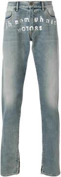 Ih Nom Uh Nit regular washed denim jeans