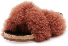 Chloé Shearling Fur Flat Slide Sandal