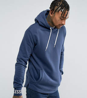 Ellesse Oversized Hoodie With Logo Cuff In Navy