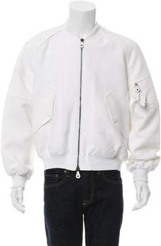 Carven Rib Knit-Trimmed Bomber Jacket
