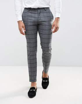 Jack and Jones Slim Wedding Suit Pant in Check