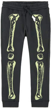 Stella McCartney Shine-in-the-dark Skeleton organic cotton tracksuit pants