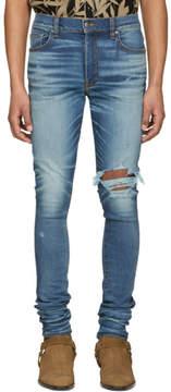 Amiri Indigo Broken Jeans