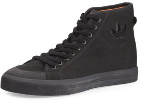 Adidas By Raf Simons Spirit Canvas High-Top Sneaker, Black