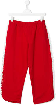 No.21 Kids TEEN netted track pants