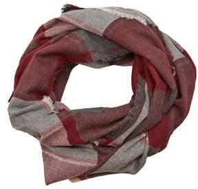 MANGO Tricolor check scarf