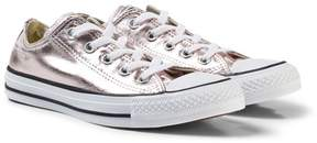 Converse Pink Junior Chuck Taylor All Star Metallic Canvas Trainers