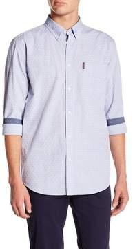Ben Sherman Ditsy Square Print Regular Fit Shirt