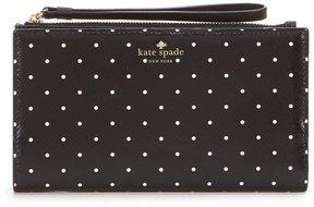 Kate Spade Brooks Drive Eliza Dotted Phone Wristlet - BLACK/CREAM - STYLE