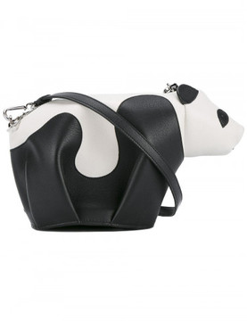 Loewe mini leather panda crossbody bag