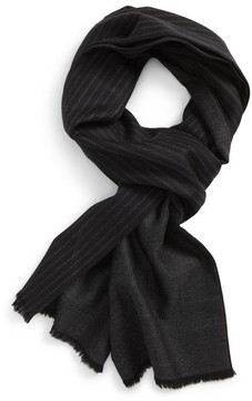 Hickey Freeman Men's Stripe Wool Scarf