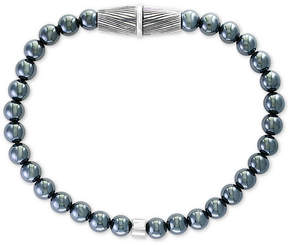 Effy Men's Hematite Bead Bracelet in Sterling Silver
