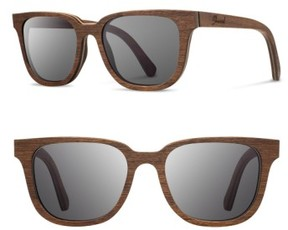 Shwood Men's 'Prescott' 53Mm Wood Sunglasses - Walnut/ Grey