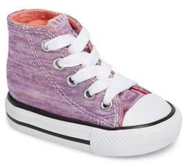 Converse Toddler Girl's Chuck Taylor All Star Knit High Top Sneaker