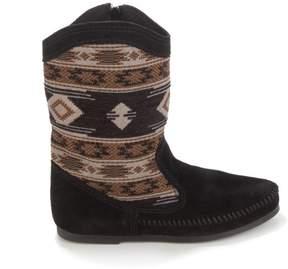 Minnetonka Baja Suede and Woven Aztec Boot