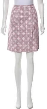 Brooks Brothers Printed Knee-Length Skirt