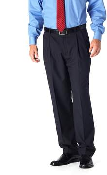 Haggar Men's Classic-Fit Pleated Navy Pinstripe Suit Pants