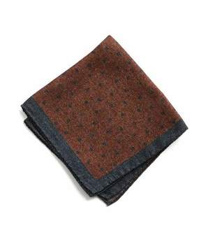Todd Snyder Italian Wool Burnt Orange Pocket Square