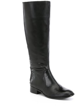 Antonio Melani Pembrookes Braided Back Detail Wide Calf Riding Boots