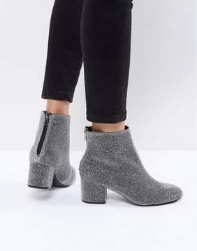 New Look Square Toe Glitter Block Heel Boot