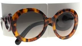 Prada Minimal Baroque Round Sunglasses PR08TS 2AU0A7 55