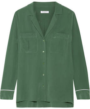Equipment Sonny Washed-silk Shirt - Army green