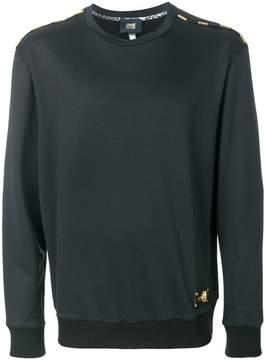 Class Roberto Cavalli embellished shoulder detail sweatshirt